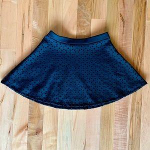 Bethany Mota Cut-Out Circle Skirt Black Mini M
